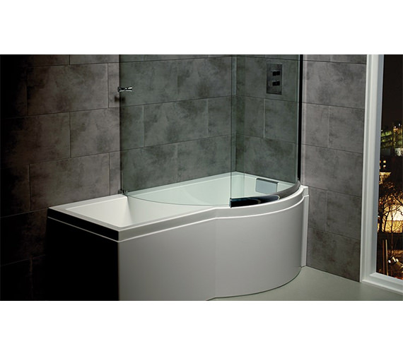 Carron Celsius Carronite Shower Bath 1700 x 750-900mm - Left Hand