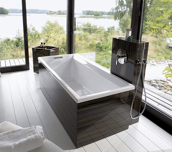 Duravit 2nd Floor Built-In 1700 x 700mm Bath With Support Feet