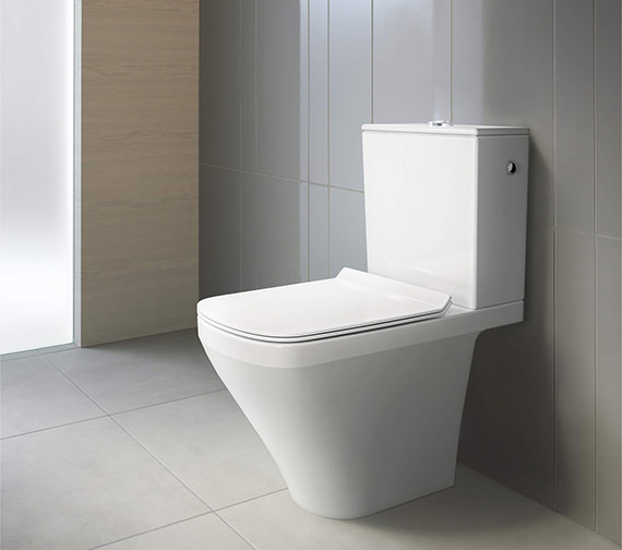 Additional image of Duravit DuraStyle 370 x 630mm Close Coupled Washdown Toilet With Cistern