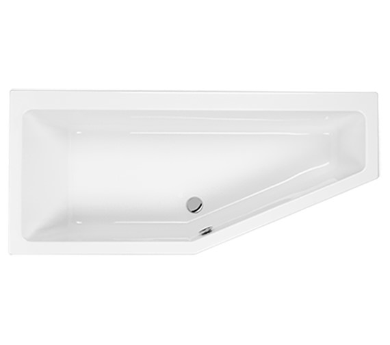 Carron Quantum Space Saver 5mm Acrylic Bath 1700 x 400-750mm - Right Hand
