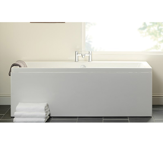 Additional image of Carron Quantum Double Ended 5mm Acrylic Bath 1700 x 700mm