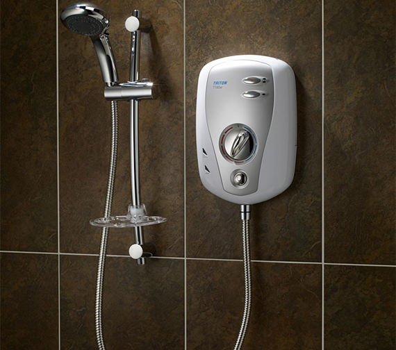 Additional image of Triton T100XR Electric Shower 9.5kw White And Chrome