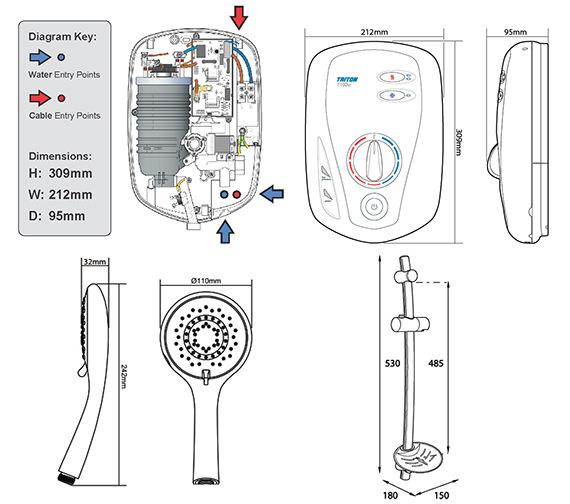 Technical drawing QS-V29747 / SP1001XR