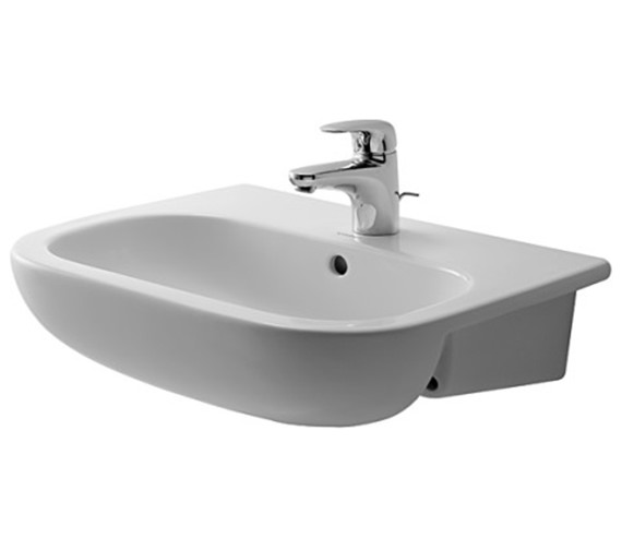 Duravit D-Code 550mm Semi-Recessed Washbasin