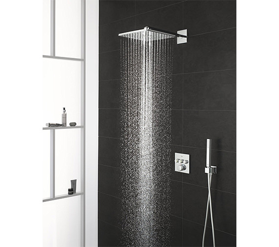 Grohe Smart Control 3-Way Chrome Square Shower Set