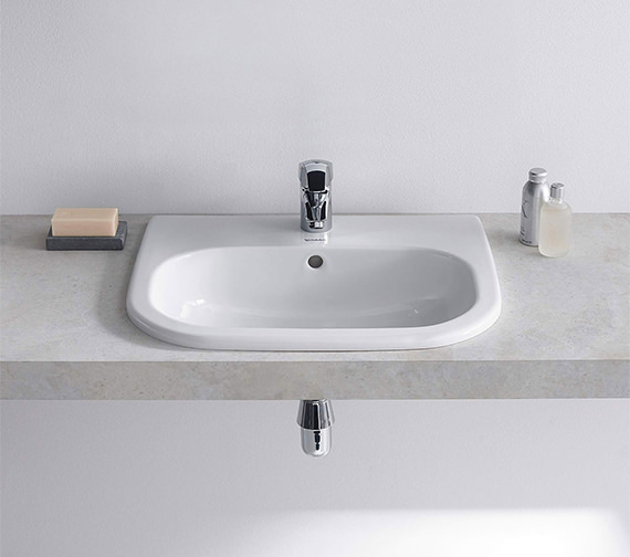 Additional image of Duravit D-Code 545mm Countertop Vanity Basin With 1 Tap Hole