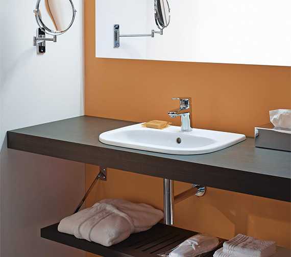 Duravit D-Code 545mm Countertop Vanity Basin With 1 Tap Hole