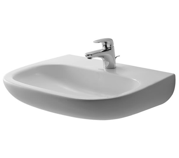 Duravit D-Code 600mm Washbasin Med Without Tap Hole And Overflow