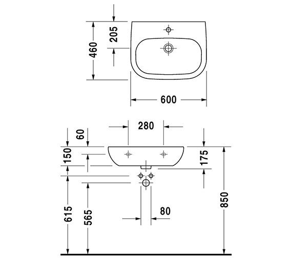 Technical drawing QS-V52814 / 23116000702