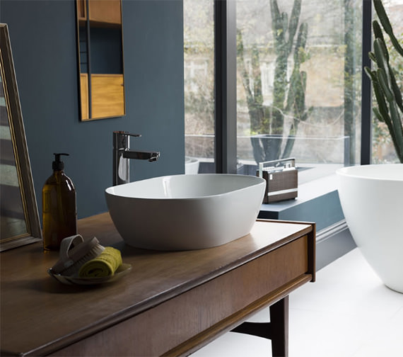 Clearwater Formoso ClearStone Countertop Basin 550 x 350mm