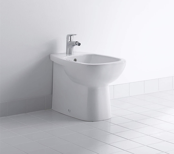 Duravit D-Code 560mm Floor Standing Back To Wall Bidet
