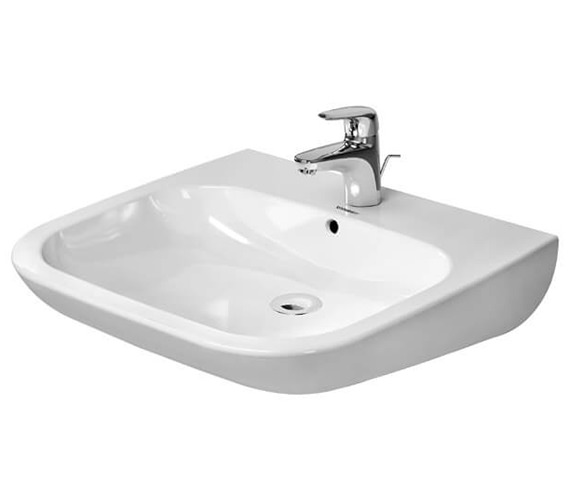Duravit D-Code 600 x 555mm Washbasin With 1 Tap Hole And Overflow