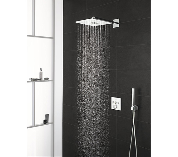 Grohe Smart Control 3-Way Moon White Square Shower Set