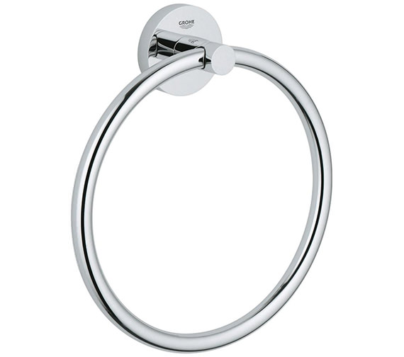 Grohe Essentials Chrome Towel Ring