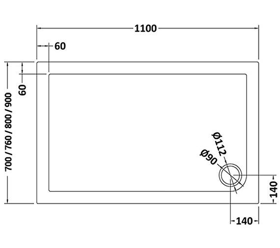 Technical drawing QS-V25460 / NTP016