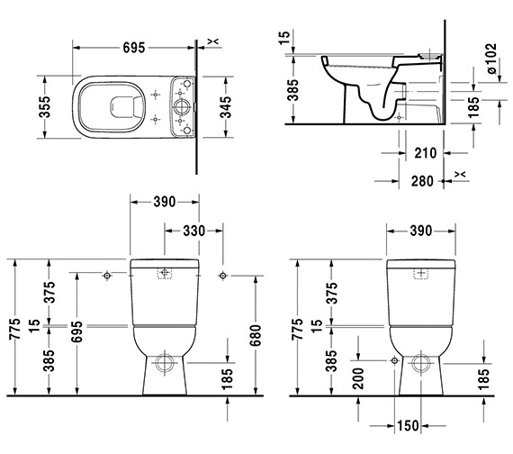 Technical drawing QS-V52823 / 21420900002