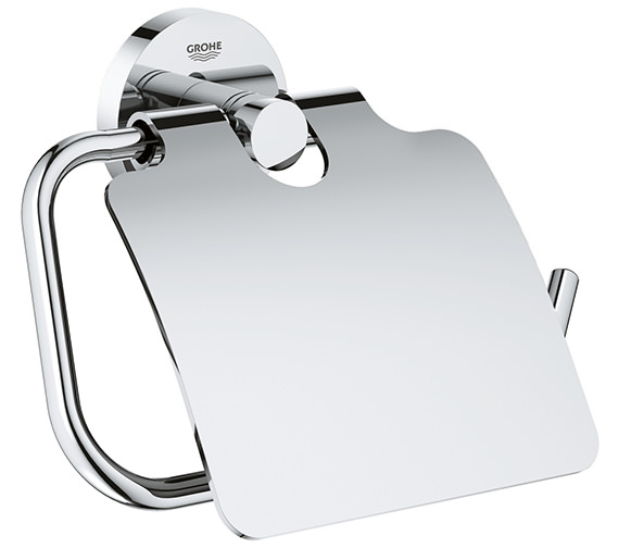 Grohe Essentials Chrome Toilet Roll Holder With Cover