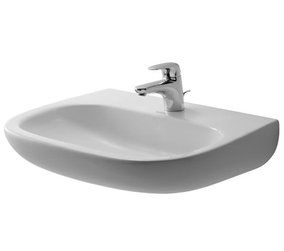 Duravit D-Code 650mm Washbasin Med Without Tap Hole And Overflow