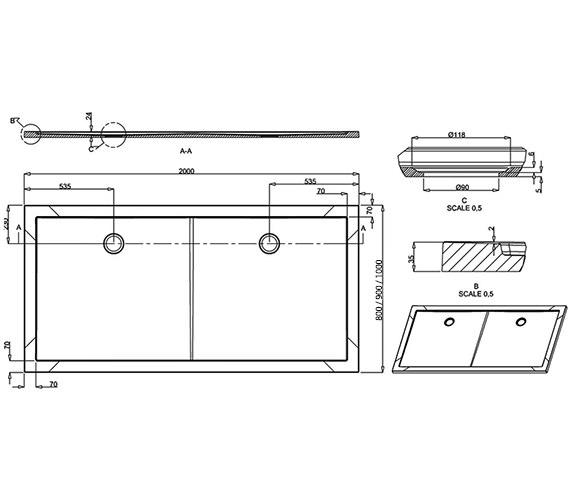 Technical drawing QS-V8067 / Z1345