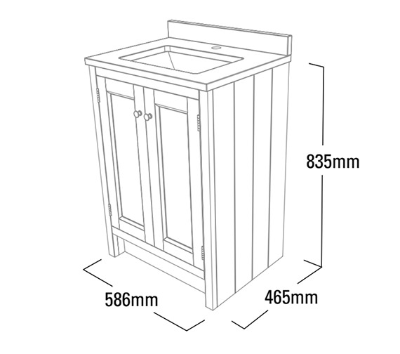 Technical drawing QS-V4771 / HAM600US.W