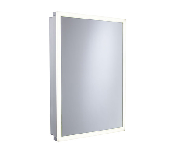 Roper Rhodes Extend 500mm Single Door Mirror Cabinet Aluminum