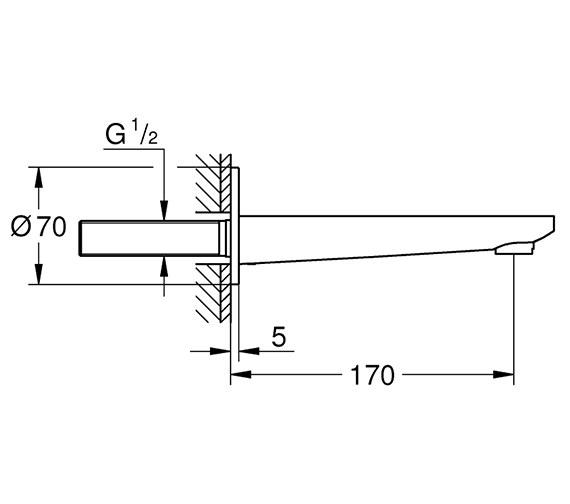 Technical drawing QS-V80594 / 13383001