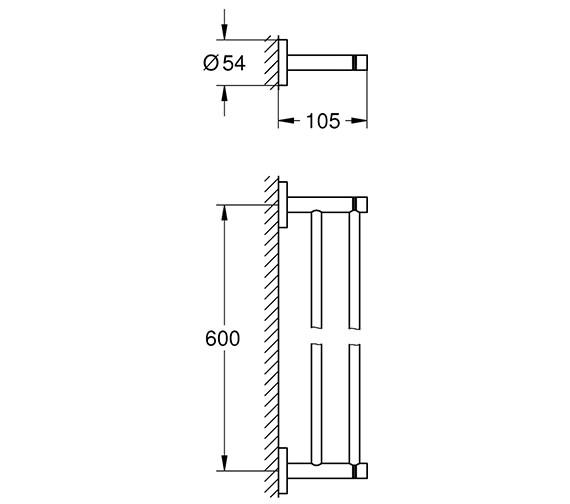 Alternate image of Grohe Essentials Towel Rail