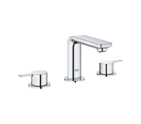 Grohe Lineare Three Hole M Size Basin Mixer Tap With Pop-Up Waste