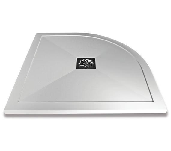 Saneux H25 1200 x 900mm Stone Resin Quadrant Shower Left Hand Tray