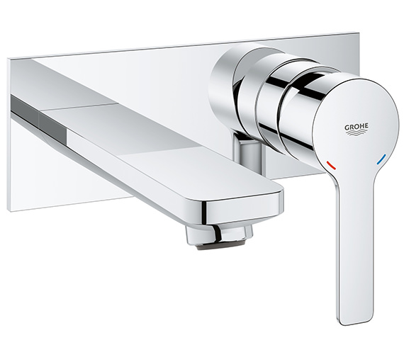 Grohe Lineare 2 Hole M Size Chrome Basin Mixer Tap