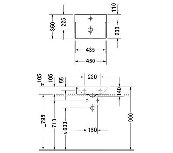 Technical drawing QS-V33570 / 0732450079