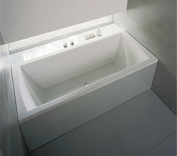 Duravit Daro 1800 x 800mm Rectangular Bath With Two Backrest Slope