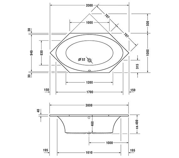 Technical drawing QS-V63176 / 760024000CE1000