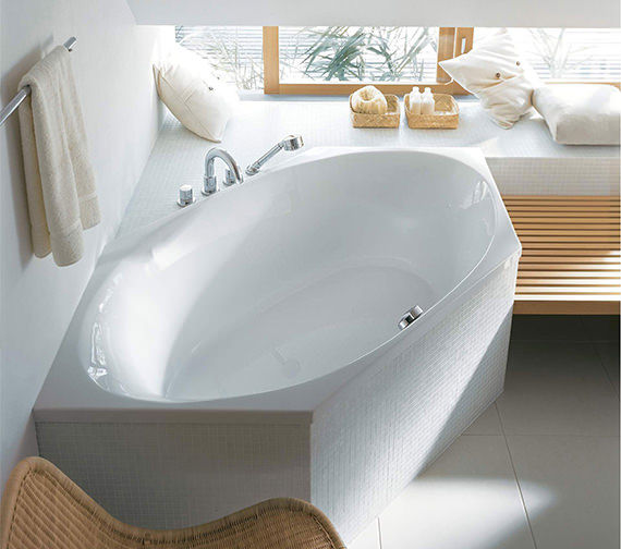 Duravit 2x3 Hexagonal 1900 x 900mm Bathtub With Frame