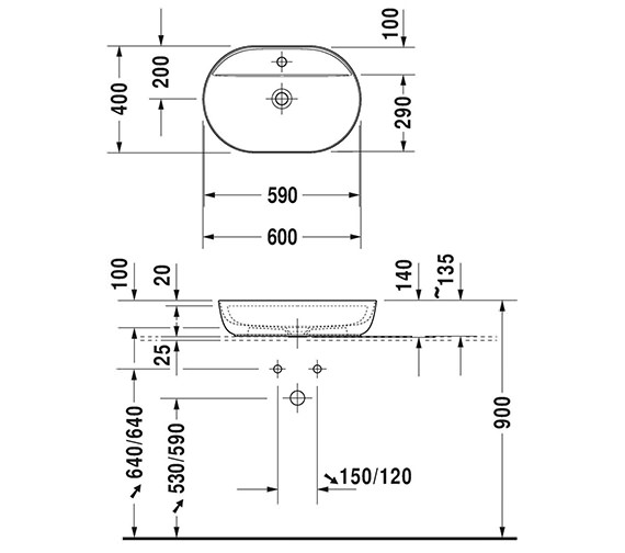 Technical drawing QS-V95966 / LU9567B3636