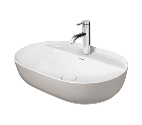 Additional image of Duravit Luv 600 x 400mm White alpin Ground Wash Bowl With Tap Platform