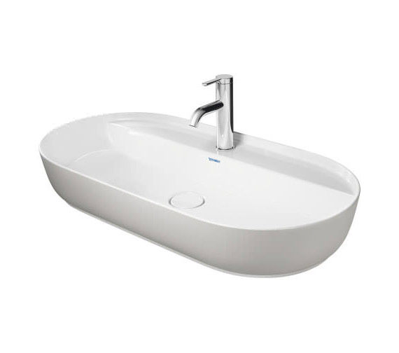 Additional image of Duravit Luv 800 x 400mm White alpin Ground Wash Bowl With Tap Platform