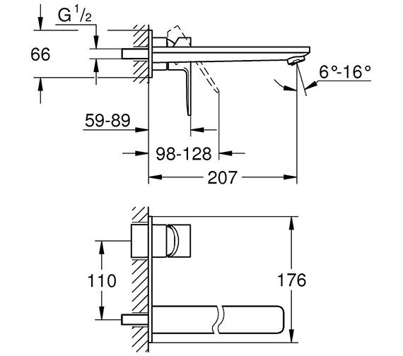 Technical drawing QS-V80651 / 23444001