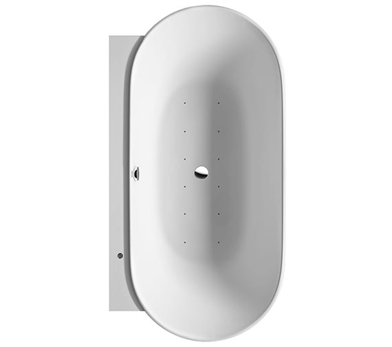 Duravit Luv 1800 x 950mm Back To Wall Bath With Air System