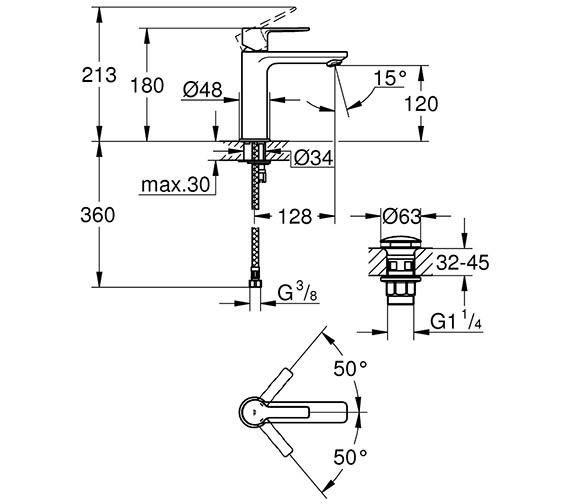 Technical drawing QS-V80599 / 23106001