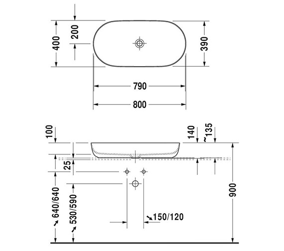 Technical drawing QS-V95968 / LU9568L3636