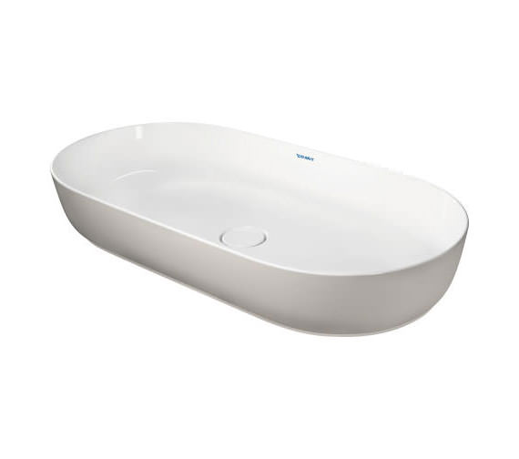 Additional image of Duravit Luv 800 x 400mm White Alpin Ground Wash Bowl