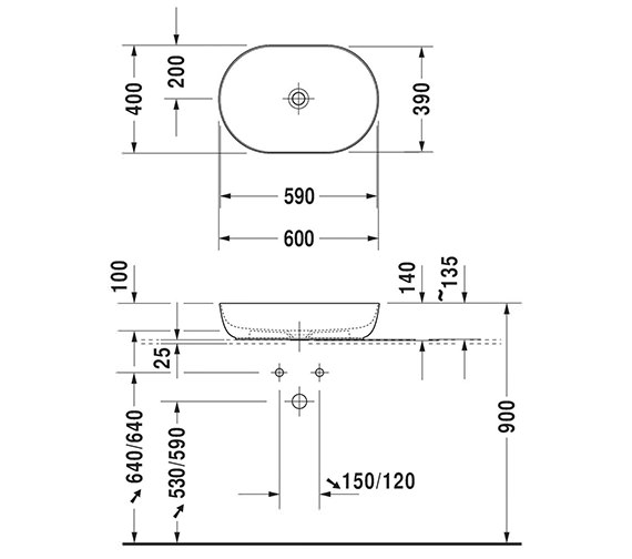 Technical drawing QS-V95965 / LU9562B3636