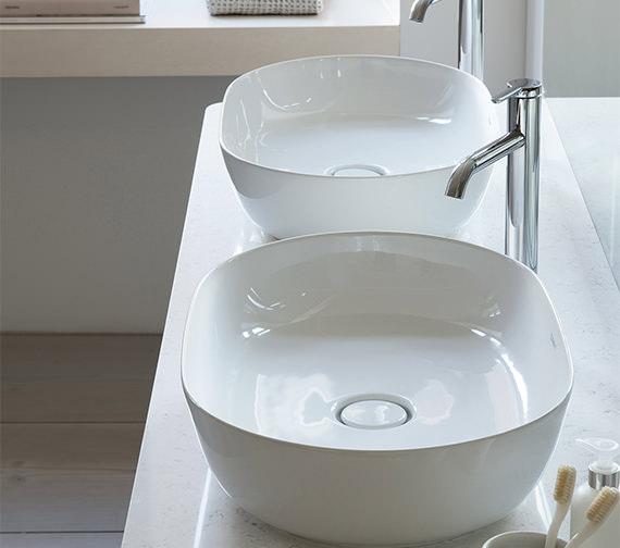 Duravit Luv 600 x 400mm White Alpin Ground Wash Bowl
