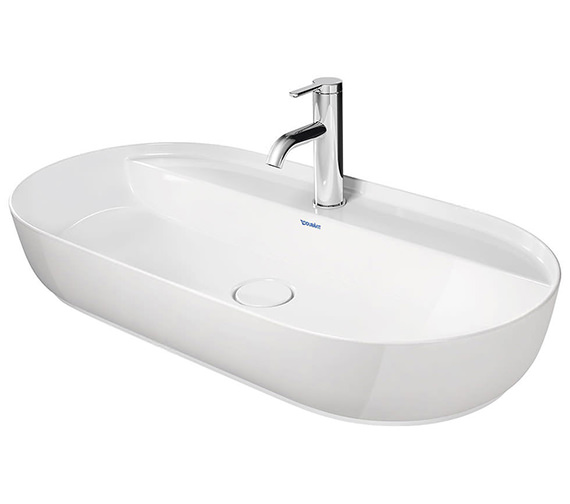 Duravit Luv 800 x 400mm White alpin Ground Wash Bowl With Tap Platform