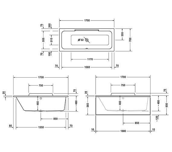 Technical drawing QS-V83484 / 700294000000000