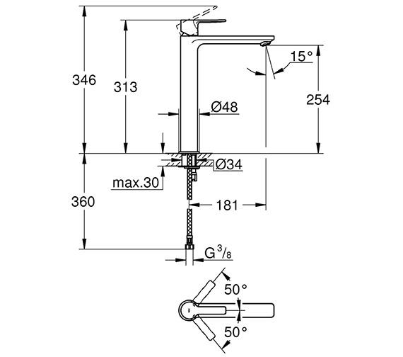 Technical drawing QS-V80650 / 23405001