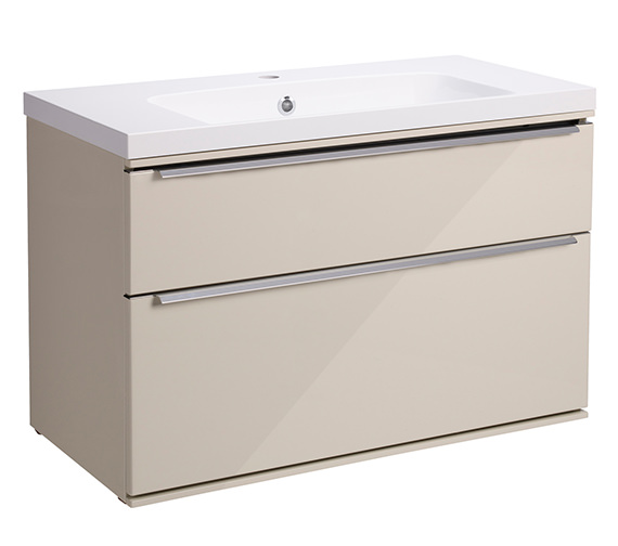 Alternate image of Roper Rhodes Scheme 800mm Gloss White Double Drawer Vanity Unit - More Optional Finishes