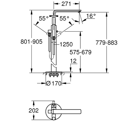Technical drawing QS-V80654 / 23792001