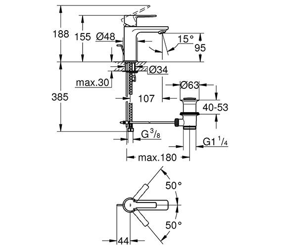 Technical drawing QS-V80655 / 32109001